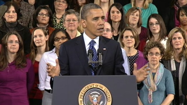 VIDEO: President Obama mentions childrens sleepovers and dates during stop in Decatur, Ga.