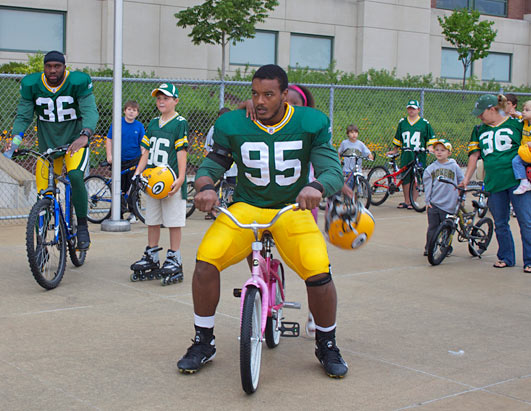 Green Bay Packers Bike Brigade