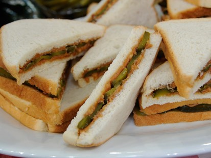 Linda Irby's Peanut Butter and Sweet Pickle Sandwich