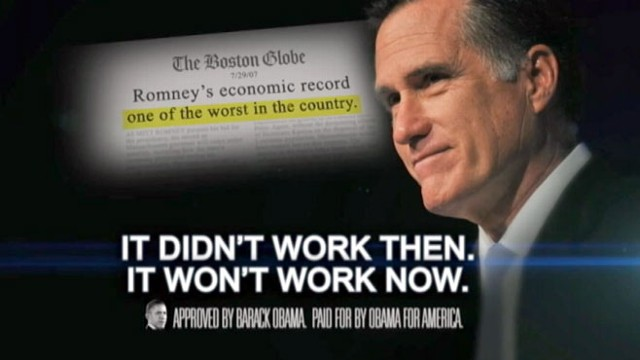 Romney Economics >> Obama 2012 Campaign Ad Blasts Mitt 'Romney Economics,' Massachusetts Debt Video - ABC News