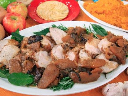 Pork Loin with Apples and Prunes