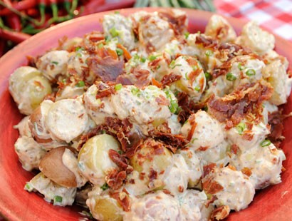 Sunny Anderson whips up a delicious red potato salad for