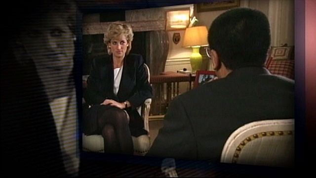 PHOTO: Seen here is Princess Dianna taping her secret interview with then-BBC journalist Martin Bashir in Kennsington Palace.