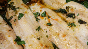 Baked Flounder with Carrots, Spinach and an Asian Vinaigrette | Recipe ...