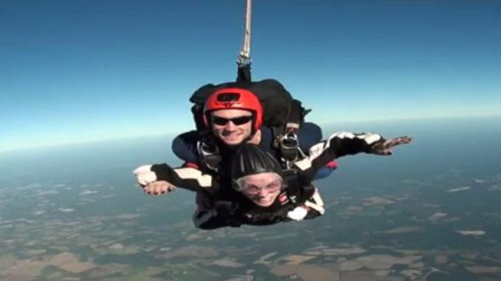 Woman Goes Skydiving to Celebrate 84th Birthday Video ...