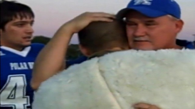 VIDEO: US Army Specialist Justin May surprised his family at a high school football game.