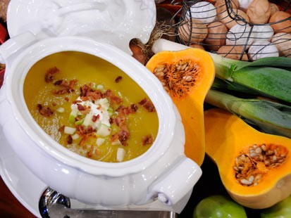 Emeril Lagasse's Butternut Squash and Apple soups.