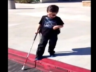 Watch: Blind Boy's Giant Step Goes Viral