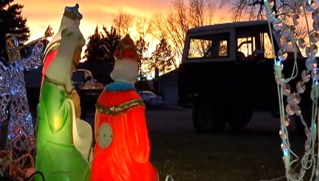 Video: Nativity scene stolen from family's yard.