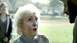 Actress Betty White in a Super Bowl Snickers commercial.