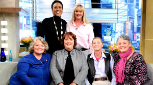 "PHOTO ""Good Morning America"" co-anchor Robin Roberts sat down with a group of sisters who are all battl"