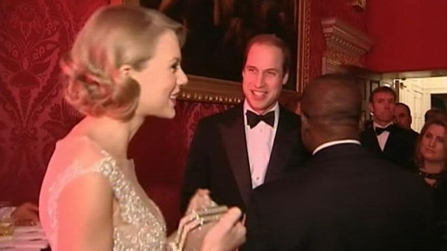VIDEO: The 23-year-old singer mingled with royalty after charity event at Kensington Palace in London.