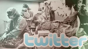 "PHOTO Around the country, some doctors are posting real time ""tweets"" from the operating room, while a technician uploads video of the surgery to You Tube."