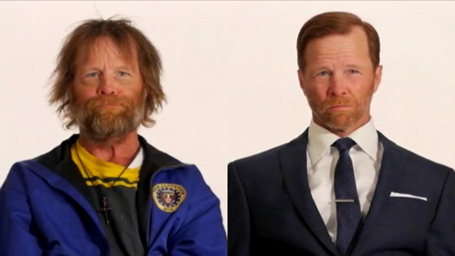 VIDEO: Jim Wolf gets more than a haircut in video highlighting the plight of homeless veterans.