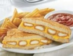 VIDEO: Dennys Fried Cheese Melt comes with a side of marinara sauce.