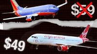 Photo: As Virgin America and Southwest Airlines wage war over Orange County, Calif. routes, passengers are finding their choice of cheap flights.