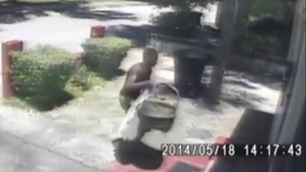 The alleged car thief in Florida left the baby on a strangers porch.