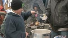 VIDEO: Keegan Keppner, 10, fed homeless people in Eugene, Ore., in order to fulfill his bucket list.