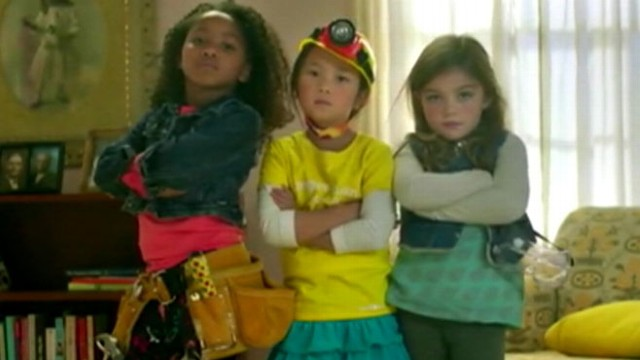 VIDEO: Toy companys viral commercial inspires young girls to play with more than just dolls and princesses.