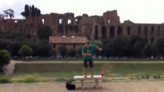 VIDEO: Larry Plawecki and Abbey Westfall danced their way across six countries in 18 days.