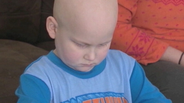 Tyler Seddon, battling Leukemia for the second time, gets support from his heroes.