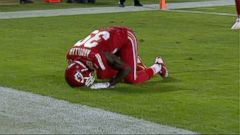 VIDEO: Husain Abdullah was penalized for unsportsmanlike conduct for kneeling in prayer after scoring a touchdown.