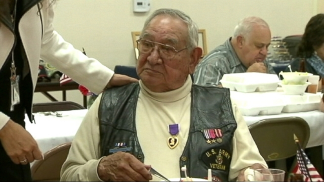 VIDEO: Martin Medellins friends pushed for the award long after the WWII veteran was injured on a French battlefield.