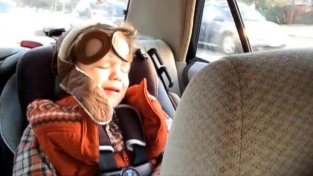 Mark Blitch captured his son Jacksons emotional reaction to A Great Big Worlds hit song.
