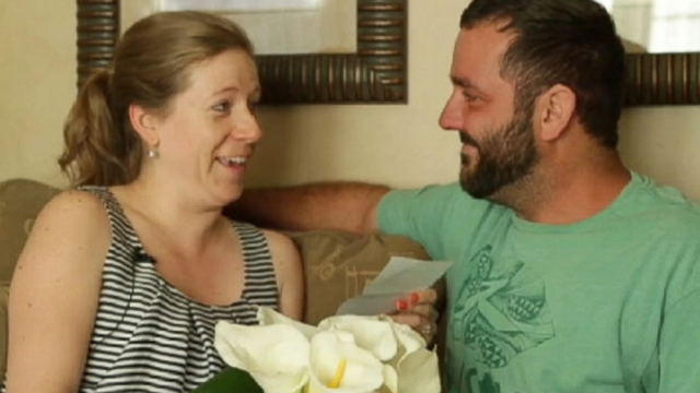VIDEO: Adam Verheyen planned the nuptials while his fiancee was overseas doing research for a book.