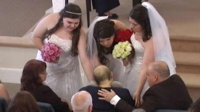VIDEO: Becky Swales died of breast cancer after seeing her daughters marry at a Georgia church.