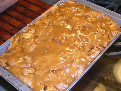 Good Morning America Recipe: Apple Cake with Caramel Glaze
