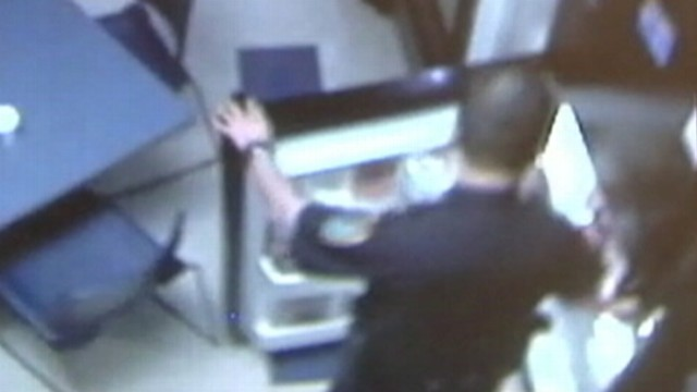 VIDEO: Surveillance video shows Texas officer raiding his co-workers refrigerator