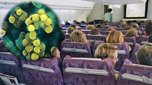 Photo: Germs on planes and how we catch them and avoid them
