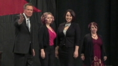 VIDEO: Amanda Berry, Gina DeJesus and Michelle Knight received Ohio Gov. John Kasichs annual courage award.