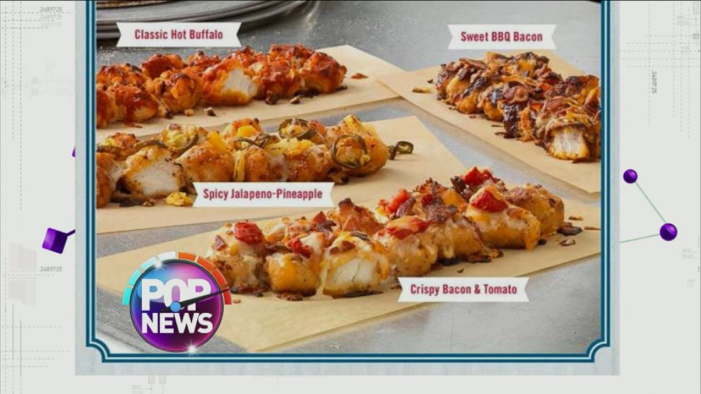 "VIDEO: Dominos is covering fried chicken with traditional pie toppings for a new take on ""pizza."""