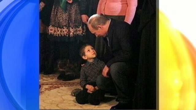 VIDEO: Photo shows boy with a shocked expression shortly after speaking to the Russian president.