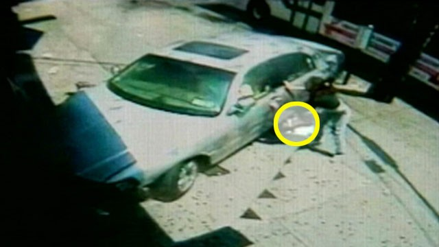 VIDEO: The 17-year-olds child was trapped beneath a NYC cab and sustained minor injuries.