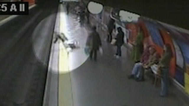 Video: Woman Faints Onto Subway Tracks in Dramatic Video