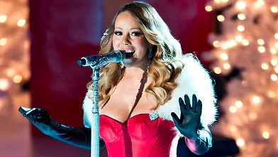 Mariah Carey Stuns in Red