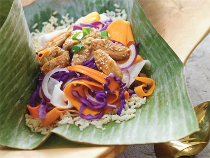 Colorful Chicken Stir-Fry with Sweet Potatoes and Hoisin Sauce