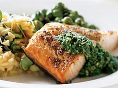 Salmon with sorrel