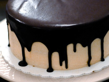 Clinton Street Baking Company's Black & White Cake is shown here.