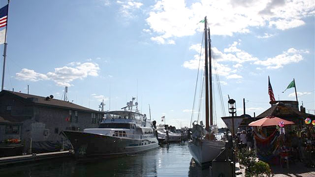 PHOTO: Newport's famed Bowen's Wharf district is one of the town's premier seaside shopping, restaurant, maritime and all-around entertainment destinations.