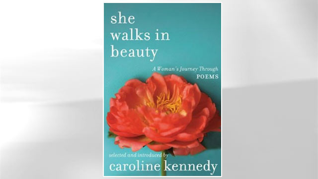 PHOTO Book cover of She Walks in Beauty by Caroline Kennedy.