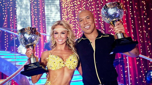 PHOTO: Hines Ward and Kym Johnson were named as Season 12's champions of 'Dancing with the Stars' and winners of the coveted mirror ball trophy, on the Season Finale on May 24, 2011.