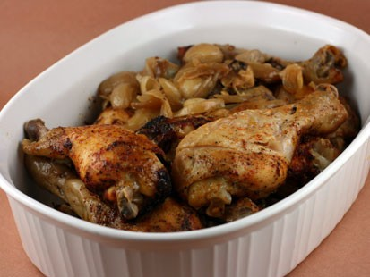 Stephanie O'Dea's 20 to 40 garlic clove chicken.