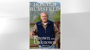 "PHOTO The cover of Donald Rumsfelds book ""Known and Unknown A Memoir,"" is shown."