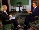 Photo: Elisabeth Leamy interviews President Obama
