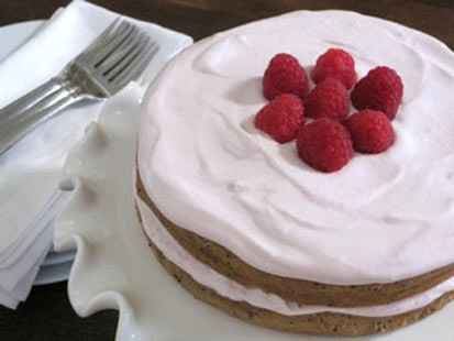 Amy Green whips up her classic lemon poppy cake with a ricotta frosting for
