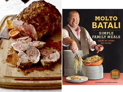 ... :??Mario Batalis leg of lamb in a clementine crust from Molto Batali